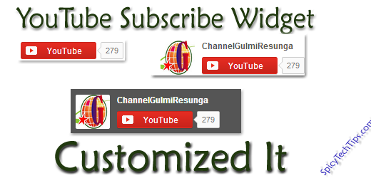 Add Customized YouTube Subscribe Widget On Blogger Blog