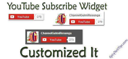 Add Customized YouTube Subscribe Widget On Blogger Blog